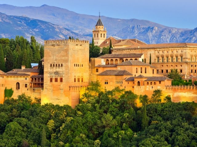 the most popular sights of andalusia alhambra palace granada spain  f